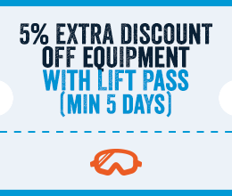 Extra 5% Off Equipment With A Lift Pass